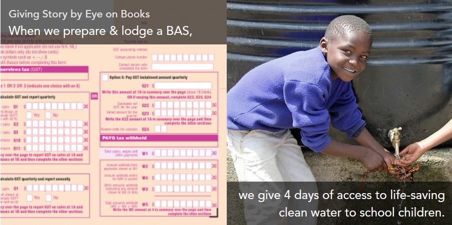 Eye on Books - How we turn your BAS into life saving supplies
